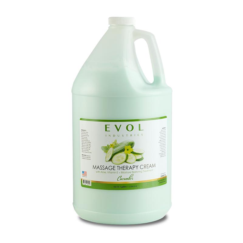 evol massage therapy cream lotion cucumber 1gal