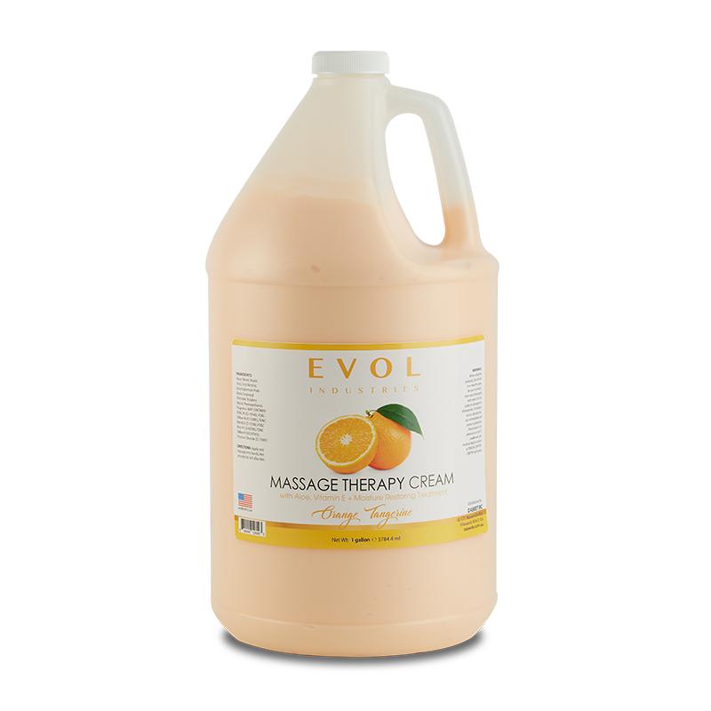 evol massage therapy cream lotion orange tangerine 1gal